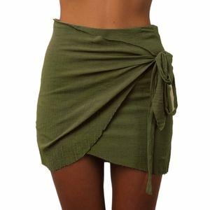 Dresses & Skirts - high waist tie up beach wrap skirt